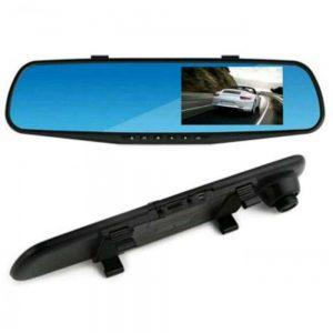 مرآة سيارة وشاشة